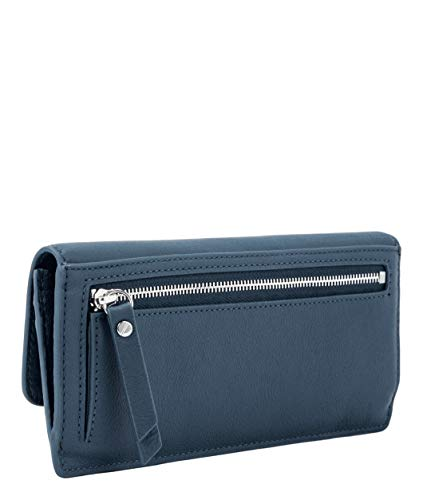 Liebeskind Berlin Damen Basic SLG-Marina Wallet Large Geldbörse, Blau (China Blue), 1x10x20 cm
