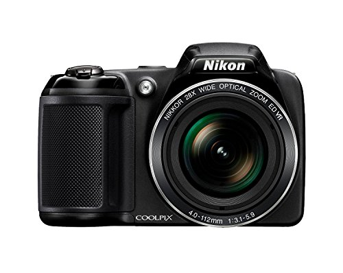Nikon Coolpix L340 20.2 MP Digital Camera with 8GB Memory Card Bundle (28x Optical Zoom, 3.0-Inch LCD, 720P Video, Black, US Model)