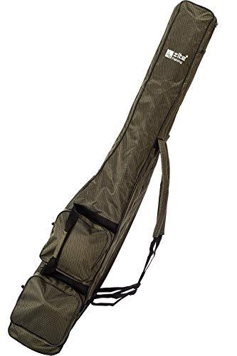 Zite Fishing Ruten-Tasche Angeln - Angel-Rucksack 3 Fächer - Angelruten-Tasche 150cm Lang - Hochwertiger Kevlar-Look