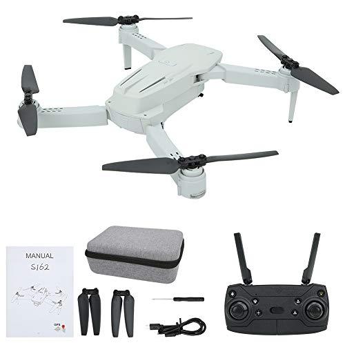 Drone WiFi RC, modalit Senza Testa Drone GPS Telecamera ad Alta Definizione WiFi Quadricottero Pieghevole Drone(WiFi Grigio 2.4G 1080)