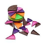 SM SunniMix Bruchrechenkreise Puzzle Spielzeug Bruchkreis