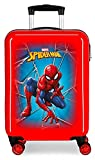 Marvel Spiderman Black Maleta de Cabina Rojo 37x55x20 cms Rígida ABS Cierre combinación 34L 2,6Kgs 4 Ruedas Dobles Equipaje de Mano