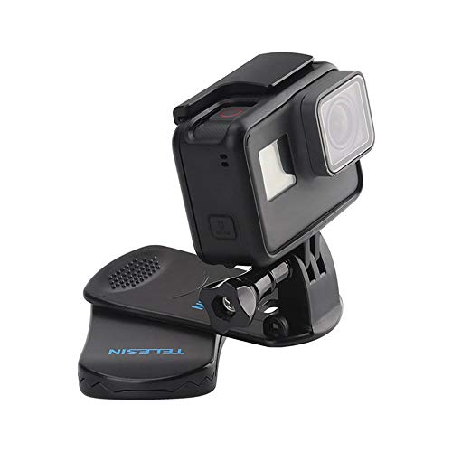 TELESIN 360 Gradi Rotatorio Zaino Clip Supporto per Cinturino a Zaino Sgancio Rapido per GoPro Hero 2018 7 6 5 4 3/ Session, Xiaomi YI 4K Lite MIJIA, OKASO, Campark, Polaroid Action Camera Accessori