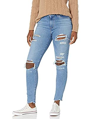 "These Skinny Jeans for Women Come With a Zipper Closure High Rise Ripped Jeans for Women: Sits Above Waist Slim through Hip and Thigh Inseam for Women's High Rise Skinny Jeans: 28"" (Short); 30"" (Medium); 32"" (Long) Front Rise: 10""; Back Rise: 14"""