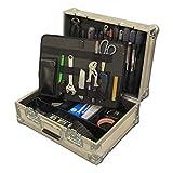 ZHIZI Juegos de herramientas Caja de almacenamiento de herramientas negras de mano hermosa portátil