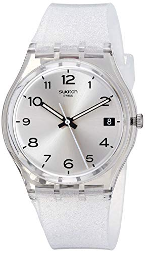 Swatch Damen Digital Quarz Uhr mit Silikon Armband GM416C