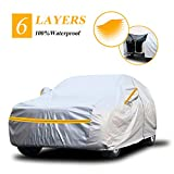 Autsop SUV Car Cover Waterproof All Weather,6 Layers Car Cover for Automobiles Outdoor Full Cover Sun Hail UV Snow Protection with Zipper, Universal A6-YXL(Fits SUV 193' to 200')