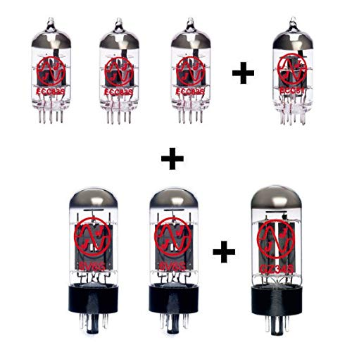 Replacement Valve Kit for Tone King Imperial MKII (3 x ECC83 1 x Balanced ECC83 1 x ECC81 2 x Matched 6V6S 1 x GZ34S)