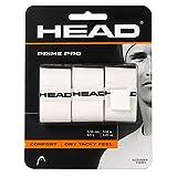 HEAD Prime Pro Racquet Overgrip - Tennis Racket Grip Tape - 3-Pack, White