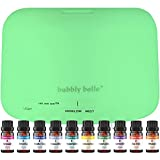 Bubbly Belle Ultimate Aromatherapy Diffuser & Essential Oil Gift Set - Diffuser & Top 10 Essential Oils - 500ml Diffuser - Therapeutic Grade Essential Oil Blends