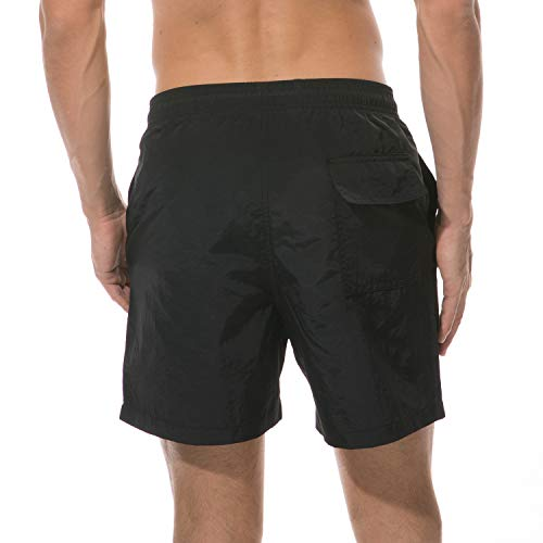 Lanyi Men's Swim Trunks Quick Dry Beach Swim Shorts with Mesh Liner Bathing Suits
