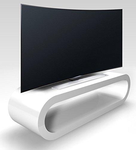 Zespoke Stile retr Cerchio Grande Bianco Lucido Porta TV/Armadietto Larghezza 110 cm