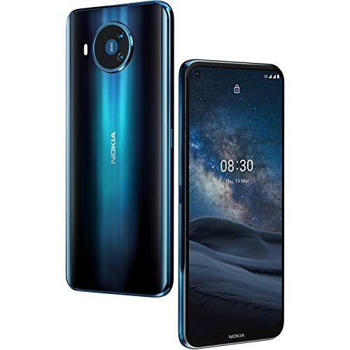 Nokia 8.3 -Smartphone 5G 6,81'' FHD+ (6GB RAM, 64 GB ROM, Cámara Cuádruple, 64MP+12MP +2MP+2MP , Batería 4500 mAh , Qualcomm Snapdrago 765G), Azul