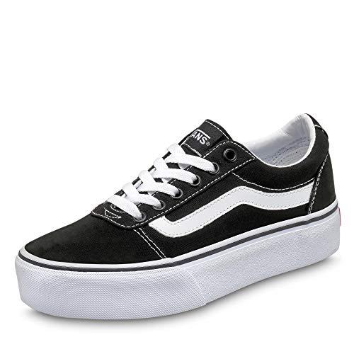 Vans Ward Platform, Sneaker Donna, Canvas Black/White 187, 36.5 EU