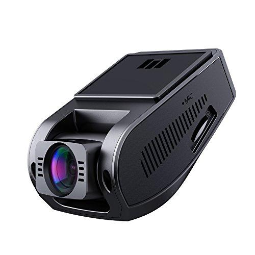 AUKEY Dash Cam Telecamera per Auto 1080p, Obiettivo Grandangolare di 170 Gradi, Visione Notturna, Rilevatore di Movimento, Registrazione in Loop, G-Sensor e 1,5' Schermo LCD (DR02)