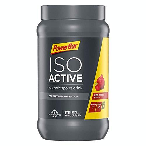 PowerBar Isoactive Red Fruit 1320g - Bebida Deportiva Isotónica - 5 Electrolitos + C2MAX