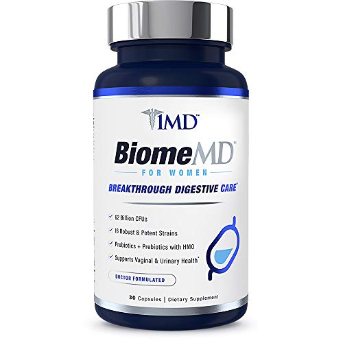 1MD BiomeMD Probiotics for Women - 62 Billion CFUs, 16 Strains with Prebiotics with HMO | Supports Vaginal & Urinary Health - Doctor-Formulated | 30 Capsules 2
