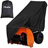 Ohuhu Snow Blower Covers, Double-Layer Heavy Duty Polyester Material & Silver-Coated Backing, Water Resistant & UV Protection, Universal Size Two-Stage Snow Thrower Covers with Carry Bag