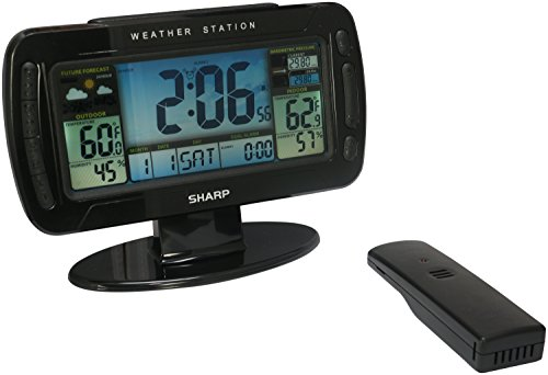 Sharp Digital Atomic Weather Station Clock