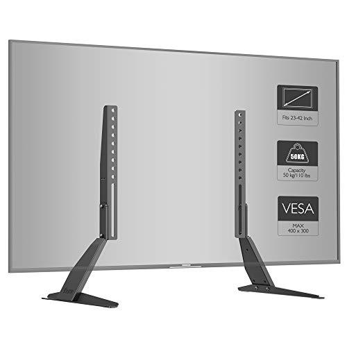 BONTEC Supporto TV Adatto per schermi TV da 23-42 pollici, può supportare in sicurezza 50 kg e il...