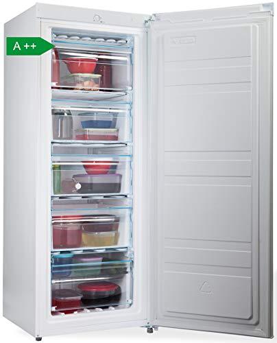 PremierTech Congelatore Verticale Freezer 153 litri -24gradi A++ 4**** Stelle 3 Cassetti e 2...