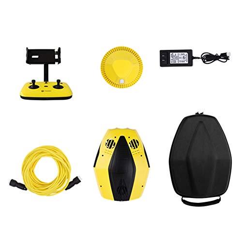 Stoge Drone subacqueo Portatile, pu immergersi in obiettivi 4K HD con profondit di 15 m con Telecomando, Eseguire esplorazioni subacquee, scattare Foto e Pescare for Gli Amici, Robot subacqueo