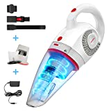 GeeMo Handheld Vacuum Cleaner 8500PA Wet Dry Powerful Cyclonic Suction Lightweight Quick Charge Vacuum Cleaner Cordless for Home&Car X4