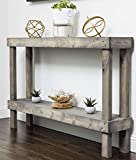 Rustic Luxe Large Wooden Sofa Table by Del Hutson Designs (Grey)