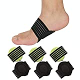 Arch Support,3 Pairs Compression Fasciitis Cushioned Support Sleeves, Plantar Fasciitis Foot Relief Cushions for Plantar Fasciitis, Fallen Arches, Achy Feet Problems for Men and Women