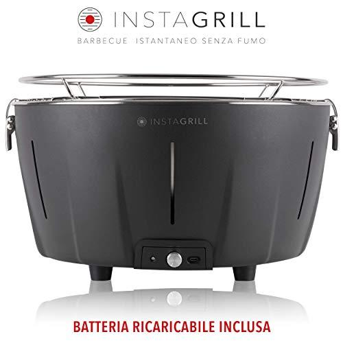 Classe Italy InstaGrill Barbecue a Carbone Senza Fumo, Antracite