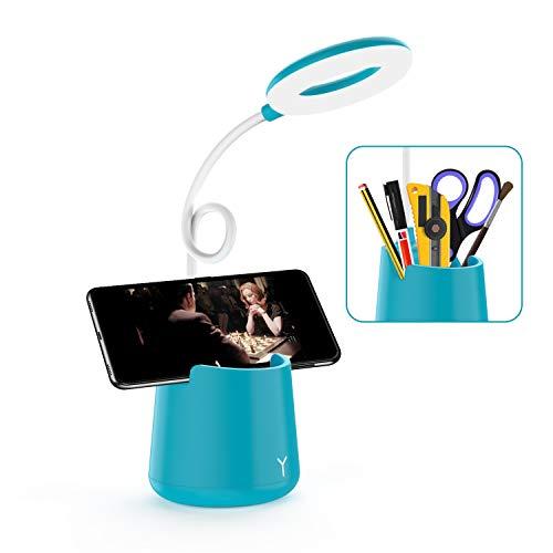 Desk Lamp Kids - Adjustable Goose Neck Table Lamp LED USB Rechargeable...