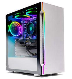 SkyTech Archangel Gaming Computer PC Desktop – Ryzen 5 3600 3.6GHz, GTX 1650 4G, 500GB SSD, 8GB DDR4 3000MHz, RGB Fans, Windows 10 Home 64-bit, 802.11AC Wi-Fi
