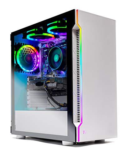 Skytech Archangel Gaming Computer PC Desktop  Ryzen 5 3600 3.6GHz, GTX 1660 6G, 500GB SSD, 8GB DDR4 3000MHz, RGB Fans, Windows 10 Home 64-bit, 802.11AC Wi-Fi