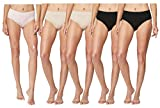 32 DEGREES Cool Brief, Ultra Soft Breathable Stretch Comfort Multi Colors 5 Pack (Nude, Black, Blush, Medium)