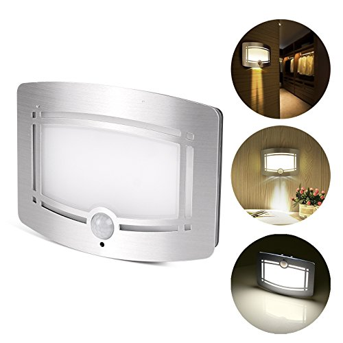 LemonBest, luce LED da parete, wireless, con sensore di movimento. Luce da parete, luce notturna per...