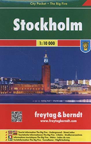 Estocolmo, plano callejero de bolsillo plastificado. City Pocket. Escala 1:10.000. Freytag & Berndt.