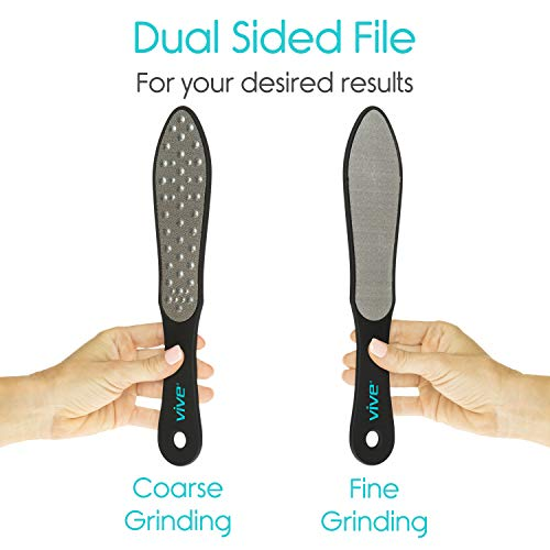Vive Foot File (3 Pack) - Callus Remover Pedicure Tool Kit for Men, Women Care - Dead Skin Heel Scrub Shaver and Rough… 5