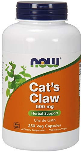 Now Foods Katzenkralle (Cat's Claw) Glutenfrei Una de Gato 500mg 250 Kapseln