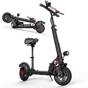 Patinete Eléctrico Adulto, Plegable Scooter, Pantalla LCD, 10 Pulgadas Neumático, Velocidad 40 Km/h, Autonomía 25 km…