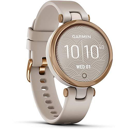 Garmin Lily Sport Reloj Inteligente, Beige Rose Gold