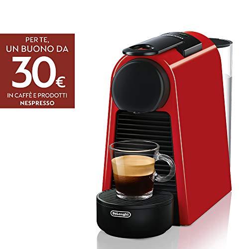 Nespresso Essenza Mini De'Longhi EN85.R Macchine del Caffe, 1370 watt, Rosso
