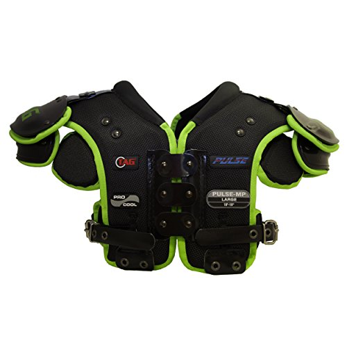TAG Pulse-MP Multi-Position Football Shoulder Pad for Offensive and Defensive Line, Fullback, Running Back, Tight End, Linebacker (X-Large)