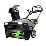 EGO Power+ SNT2103 21-Inch 56-Volt Cordless Snow Blower with Peak Power Two 7.5Ah Batteries and Rapid Charger Included, Black
