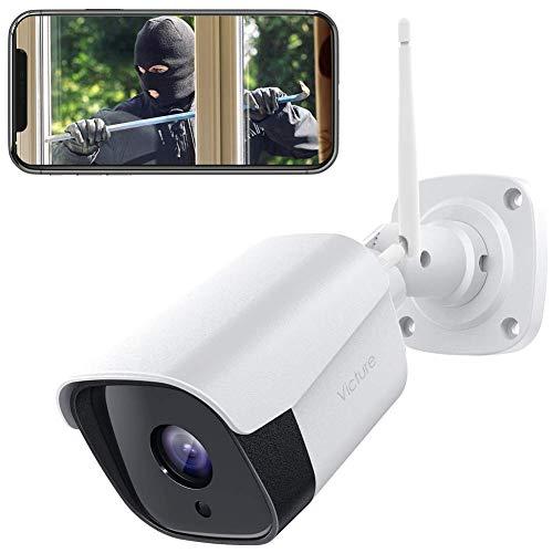 Victure 1080P Überwachungskamera Aussen WLAN IP Kamera wasserdichte Sicherheitskamera CCTV Kamerasystem mit Zwei Wege Audio Außen Kamera mit Bewegungserkennung und Infrarot Nachtsicht