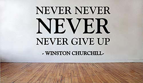 Decalcomania da parete in vinile rimovibile con scritta 'Never Never Never Never Never Winston...