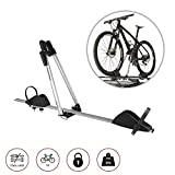 Bike Rack Hitch Roof Mount Aluminum for One Bike Carrier with Anti-Theft Lock Cars Trucks SUV and Minivan | Automotive Exterior Accessories