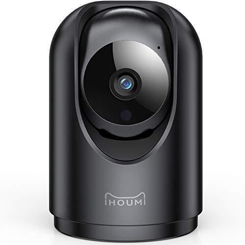Cámara Wi-Fi para interiores, cámara de vigilancia wifi para interiores IHOUMI 1296P, con súper visión nocturna / audio bidireccional / seguimiento de movimiento / alarma de aplicación