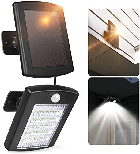 Solar Lights Outdoor Motion Sensor ,INSOME 20LED Solar Security Lights,500W Flood Lights, IP65 Waterproof Spotlights-Auto Detect, Adjustable Exterior Lights for Porch Garden Patio Yard Garage Pathway