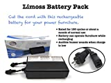 Limoss Wireless Rechargeable Furniture Battery Pack for Power Reclining furniture