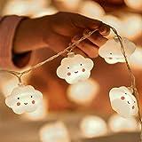 Flycoo2 Guirlandes Lumineuse 3.5M 20PCS LED Lampe d'Ambiance Nuage pour chambre d'Enfants Fête Party Mariage Noël Soirée Décoration (Alimenté par pile)